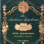 LP - Beethoven - The Beethoven Symphonies - Number 7 in A Major (Klemperer)