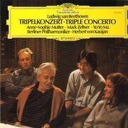 LP - Beethoven - Tripelkonzert / Karajan