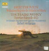 LP - Beethoven / Tschaikowsky - Wellingtons Sieg / Ouvertüre Solennelle 1812, Berliner Philh, Karajan