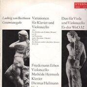 LP - Beethoven - Variationen für Klavier und Violoncello / .. (Erben, Hermuth,..)