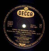 LP - Beethoven - Violinkonzert D-dur,, Alfredo Campoli, LSO, Krips - Black Decca Gold