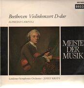 LP - Beethoven - Violinkonzert D-dur,, Alfredo Campoli, LSO, Krips