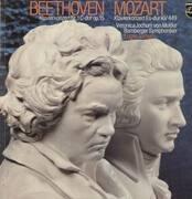 LP - Beethoven / Mozart - Klavierkonzerte, Nr.1C-dur op.15 / Es-dur KV449,, Eugen Jochum