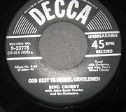 7'' - Bing Crosby - White Christmas