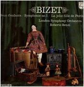 LP - Bizet - Jeux denfants, Symph no.1, La jolie fille de Perth,, LSO, Benzi