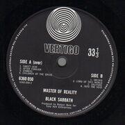 LP - Black Sabbath - Master Of Reality - Orig 1st UK Swirl