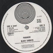 LP - Black Sabbath - Paranoid - 1st UK swirl