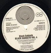 LP - Black Sabbath - Black Sabbath Vol 4 - ORIGINAL GERMAN