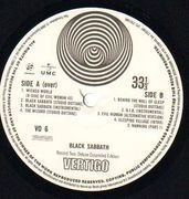Double LP - Black Sabbath - Black Sabbath - Vertigo Swirl