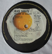 LP - Black Sabbath - Master Of Reality