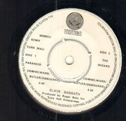 7inch Vinyl Single - Black Sabbath - Paranoid - Original Turkish