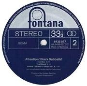LP - Black Sabbath - Attention!