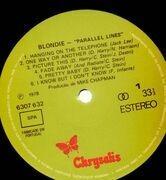 LP - Blondie - Parallel Lines - Portugal