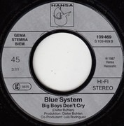 7inch Vinyl Single - Blue System - Sorry Little Sarah