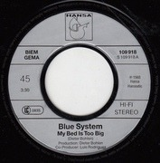 7'' - Blue System - My Bed Is Too Big