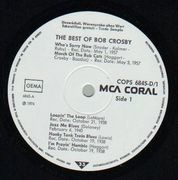 Double LP - Bob Crosby - The Best Of Bob Crosby featuring The Bob Cats - Trade Sample