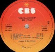 LP - Bob Dylan - Nashville Skyline - DUTCH SUNBURST