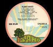 LP - Bob Dylan - Planet Waves - Pink Rim Island