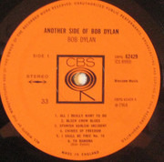 LP - Bob Dylan - Another Side Of Bob Dylan - CBS pressing
