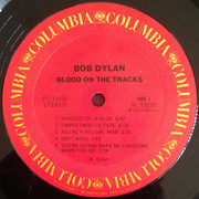 LP - Bob Dylan - Blood On The Tracks - Black liner notes, Terre Haute Pressing