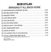 CD - Bob Dylan - Bringing It All Back Home