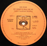 LP - Bob Dylan - Pat Garrett & Billy The Kid - ORIGINAL UK