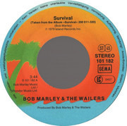7inch Vinyl Single - Bob Marley & The Wailers - Survival