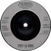 7inch Vinyl Single - Bob Marley - Iron Lion Zion - Silver Labels