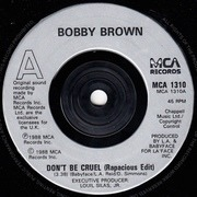 7'' - Bobby Brown - Don't Be Cruel - Silver Injection Labels