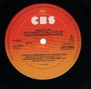 LP - Bob Dylan - Pat Garrett & Billy The Kid - sunburst labels