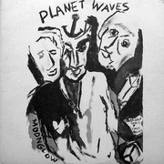 LP - Bob Dylan - Planet Waves - textured sleeve