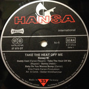 LP - Boney M. - Take The Heat Off Me - Poster