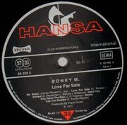 LP - Boney M. - Love For Sale - Club-Sonderauflage