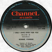 12inch Vinyl Single - Bonnie Forman - I Only Have Eyes For You (Remix)