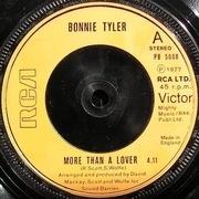 7'' - Bonnie Tyler - More Than A Lover