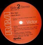 LP - David Bowie - Pinups - US PRESS