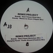 12inch Vinyl Single - Brandy / Changing Faces - Remix Project - Stickered