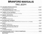 CD - Branford Marsalis - Trio Jeepy