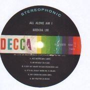 LP - Brenda Lee - All Alone Am I