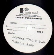 LP - Brother Jack McDuff - Tobacco Road - white label test pressing, handwritten