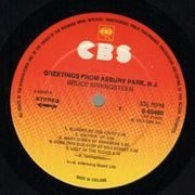 LP - Bruce Springsteen - Greetings From Asbury Park, N. J. - Original, Postcard cover