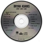 CD - Bryan Adams - Live! Live! Live! - Japan without OBI-Strip