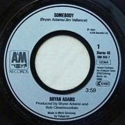 7inch Vinyl Single - Bryan Adams - Somebody