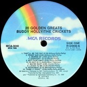 LP - Buddy Holly / The Crickets - 20 Golden Greats