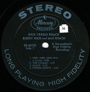 LP - Buddy Rich And Max Roach - Rich Versus Roach