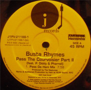 12inch Vinyl Single - Busta Rhymes Feat. P. Diddy & Pharrell Williams - Pass The Courvoisier Part II
