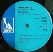 LP - Canned Heat - '70 Concert: Recorded Live In Europe - Gatefold