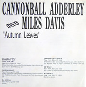 CD - Cannonball Adderley Meets Miles Davis - Autumn Leaves