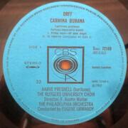 LP - Carl Orff - Carmina Burana - Booklet