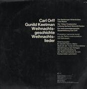 LP - Carl Orff , Musik Gunild Keetman - Weihnachtsgeschichte - Gatefold